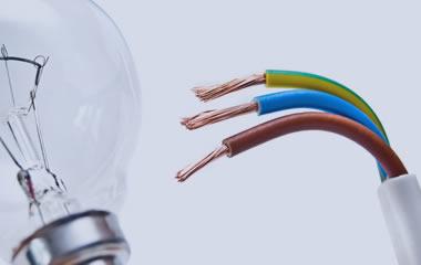 lampadina e fili, servizio di realizzazione impianti elettrici